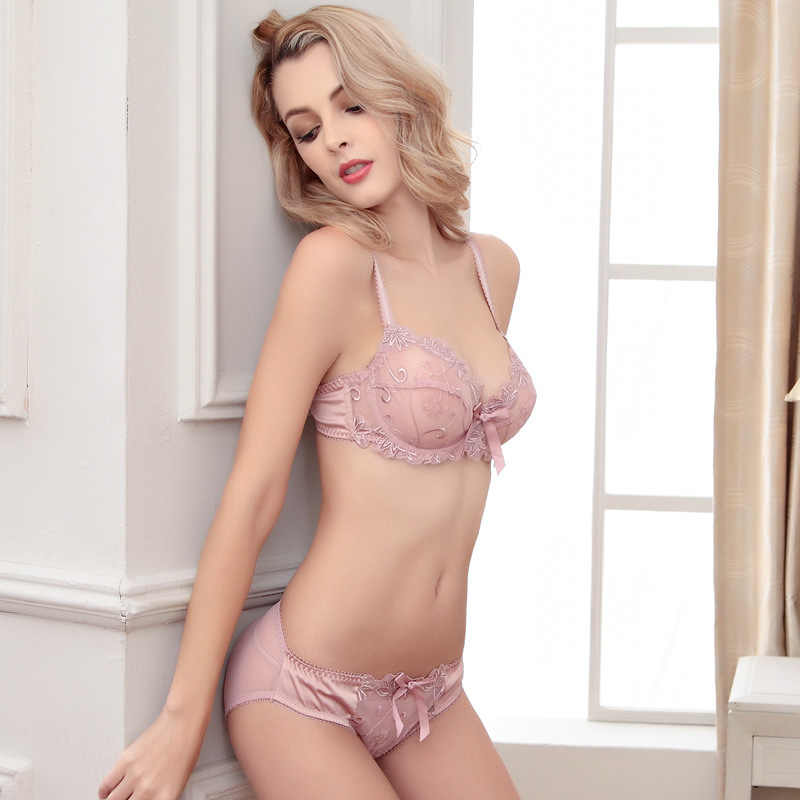 e7f009e2f27 Women Bra Set 2019 Hot Sell High Quality Sexy Push Up Bra Satin Luxury Lace  Flower
