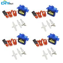 4pcs/lot 9g SG90 Mini Servo 180 Degree with Accessories 3Pin Cable For 450 RC Helicopter Airplane Car Boat DIYmall