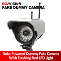 Solar Energy Power Dummy Outdoor Indoor Bullet Camera Flash IR LED Security Camera Fake Dome Wireless CCTV Surveillance