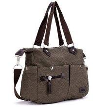 Neue einfarbig Khaki Casual Vintage Multifunktions Stamm Männer Frauen Leinwand Reise Crossbody Schulter Messenger Bag Handtasche XA795B