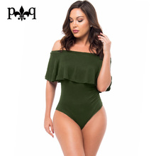 Summer Bodysuits Women Romper Sexy Off The Shoulder Ruffle Backless Bodysuit Tops Casual Beach Playsuit Women Overall Body Femme