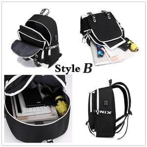 Image 5 - Многофункциональные школьные ранцы с USB зарядкой для мальчиков и девочек подростков, рюкзак для путешествий в стиле очень странные дела, светящаяся сумка для ноутбука