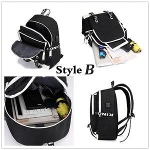 Image 5 - multifunction USB charging for teenagers boys Student Girls School Bags Stranger Things Backpack travel Luminous Bag Laptop Pack