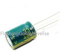 送料無料200ピース100%新しい400ボルト33 uf 33 uf 400ボルト電解コンデンサ13*20 13*18最高品質新しいorigina