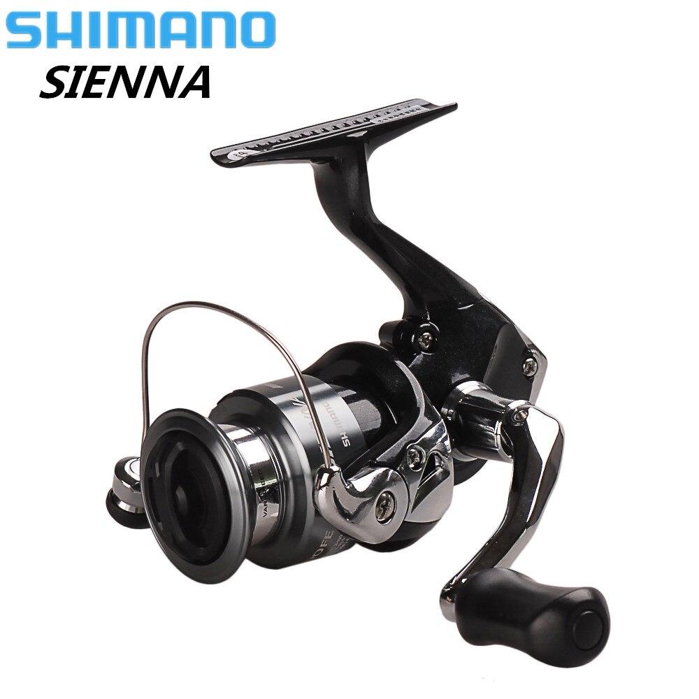 Original Shimano SIENNA Spinning Angeln Reel 1000/2500/4000FE 1 + 1BB XGT-7 Körper Carretilha Pescaria Salzwasser Karpfen angeln Coil