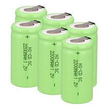 Anmas Power 1.2V Ni-CD Sub C SC 2200mAh Green Rechargeable Battery nicd battery with tab