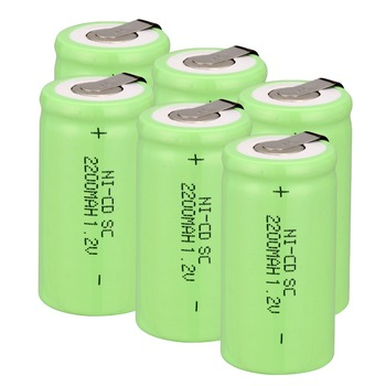 Anmas Power 1.2V Ni-CD Sub C SC 2200mAh Green Rechargeable Battery nicd SC battery with tab high quality battery rechargeable battery sub battery sc ni cd battery 1 2 v with tab 3000 mah for electric tool