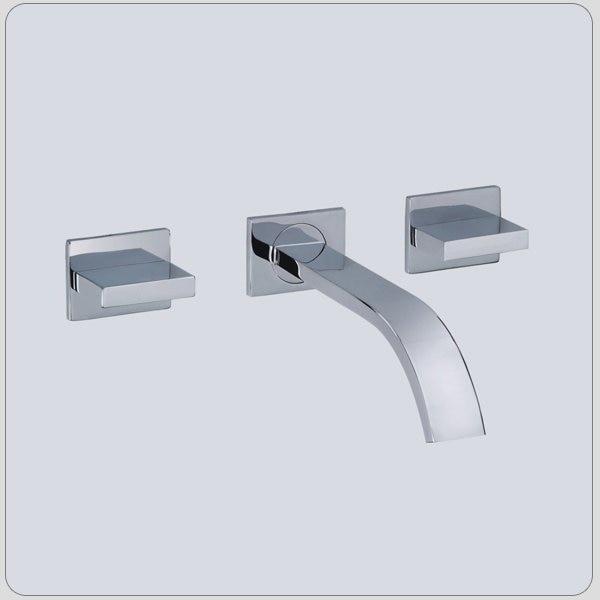 Хромированная квадратная латунная Ванная раковина кран 3 отверстия