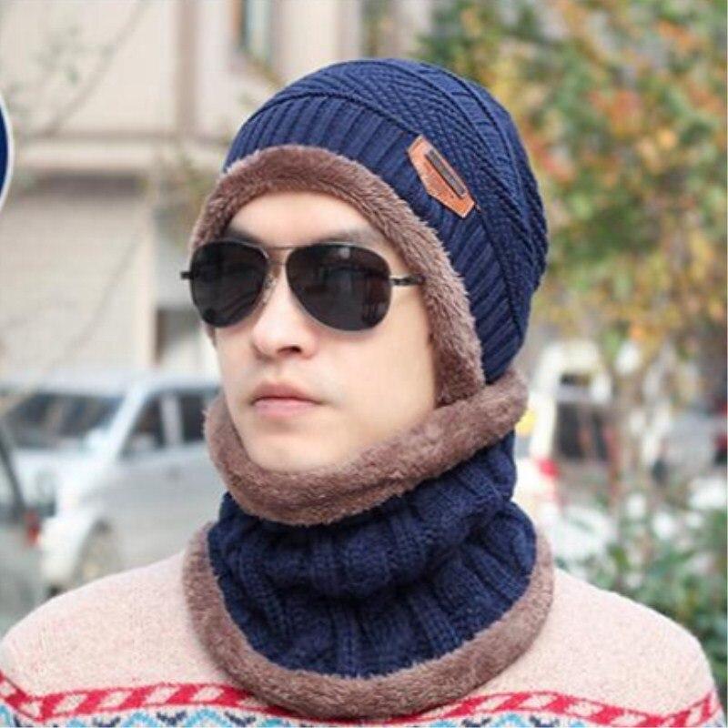 853e33cf166 Seioum Balaclava Knitted hat scarf caps neck warmer Winter Hats For Men  women skullies beanies warm Fleece cap-in Skullies   Beanies from Apparel  ...