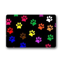 Fantastic Doormat Cool Colorful Animal Paw Print Dog Paw Door Mat Rug Indoor Outdoor Front Door