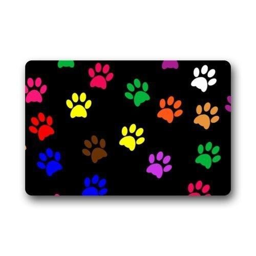 Fantastic Doormat Cool Colorful Animal Paw Print Dog Paw Door Mat Rug  Indoor/Outdoor/