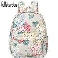 Flores Impressão mulheres mochila de Alta Qualidade Da Marca Coreana Machila Fullstarplus Escololar sacos de Escola para adolescentes meninas