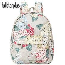 Fullstarplus Marque Coréenne Fleurs Impression femmes sac à dos de Haute Qualité Machila Escololar sacs D'école pour les adolescents filles
