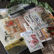 50 шт./пакет в винтажном стиле наклейки из бумаги васи старый газета книжная страница смешанные DIY альбом для скрапбукинга проект happy план декоративные наклейки