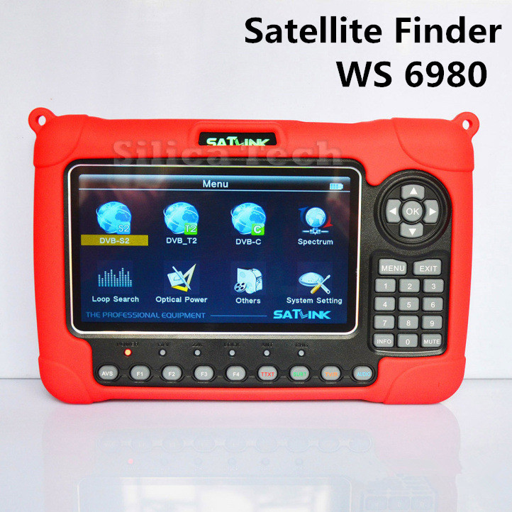 Original Satlink WS 6980 DVB-S2 DVB-T2 DVB-C Combo Digital Satellite Singal Finder Spectrum Analyzer constellation satlink ws 6980 7inch hd lcd screen dvb s2 dvb t dvb t2 dvb c ws 6980 combo finder with spectrum analyzer constellation meter