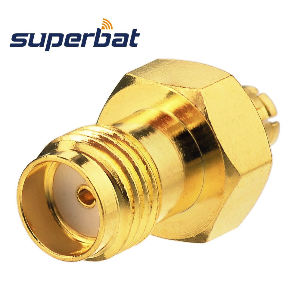 Superbat SMP Jack Female Adapter To SMA Straight Jack Female 50 Ohm RF Coaxial Adapter Connector