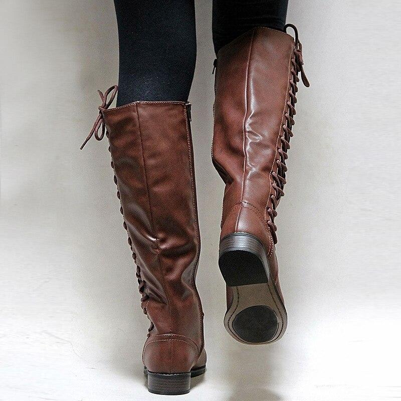 7a36c35c Más Mujer Casual Zapatos Nb238 Moda Las Botas Cuero black Khaki Encaje  Invierno Otoño Mujeres Botines ...