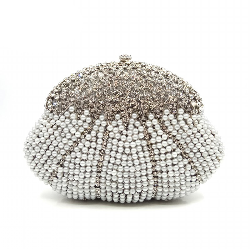 Elegant women evening party handbag diamonds elegant purses luxury clutch bridal wedding party pearl wallet crystal