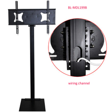 32 70 inch LCD LED Plasma Monitor TV Mount Floor Stand Tilt Swivel AD Display Wire Management Height Ajustable