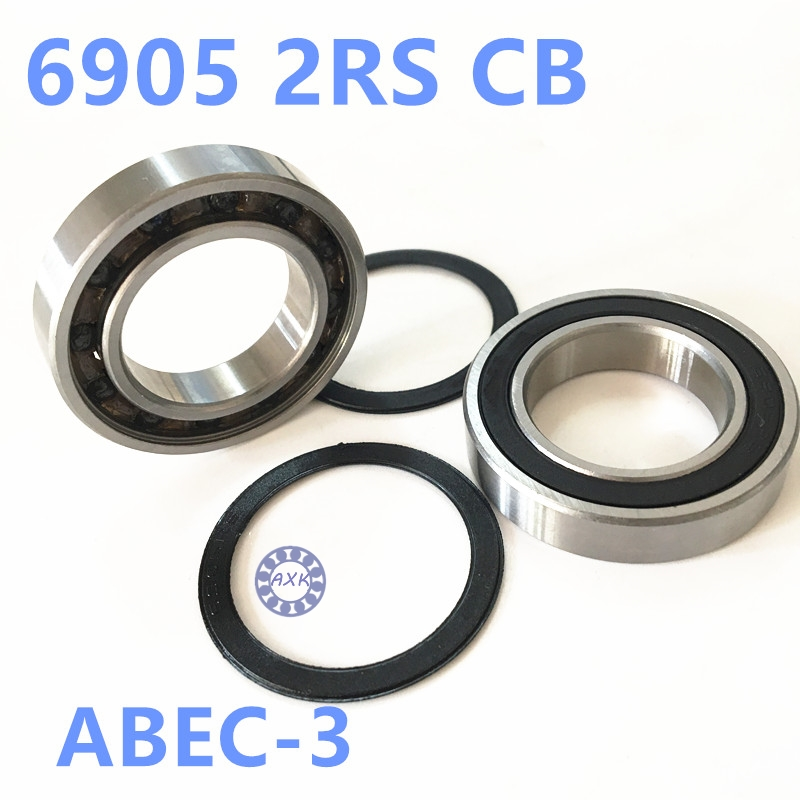 Free shipping 6905 2RS 25*42*9mm Si3N4 balls hybrid ceramic ball bearing 61905 6905RS 61905 2RS 25x42x9mm for bike hub part 15267 2rs 15 26 7mm 15267rs si3n4 hybrid ceramic wheel hub bearing