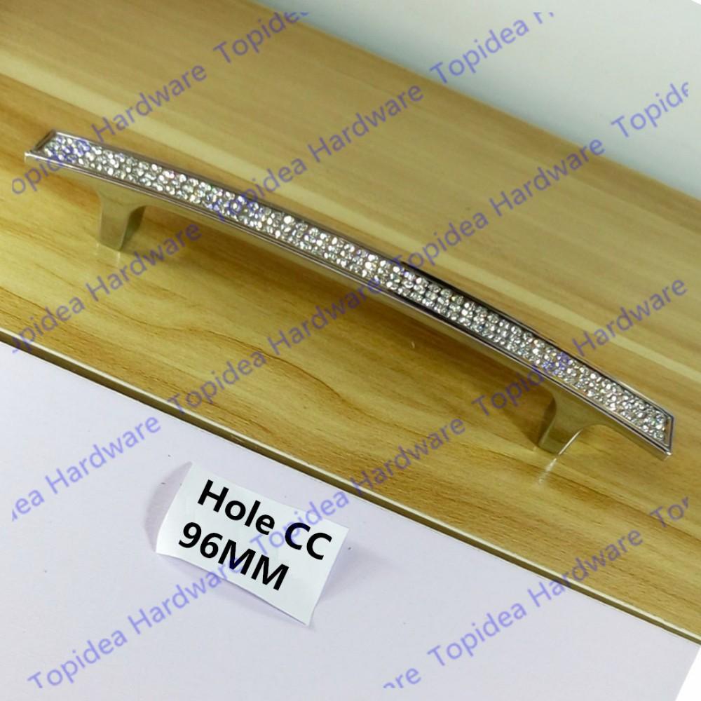 C: C: 96mm/128mm/160mm Kristall Möbel Kommode Schublade Silber Zieht ...