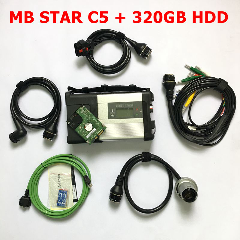 MB Star C5 2018 SD Connect Compact 5 Diagnostic Tool mb star c5 software V2018.09 latest software multi-languages for MB Cars 38 pin main cable for mb star c4 c5 diagnosis sd connect for mercedes compact 4 5 super quality