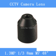 CCTV lenses 1.3MP 1/3 HD 8mm pinhole surveillance camera 48 degrees infrared M7 lens thread