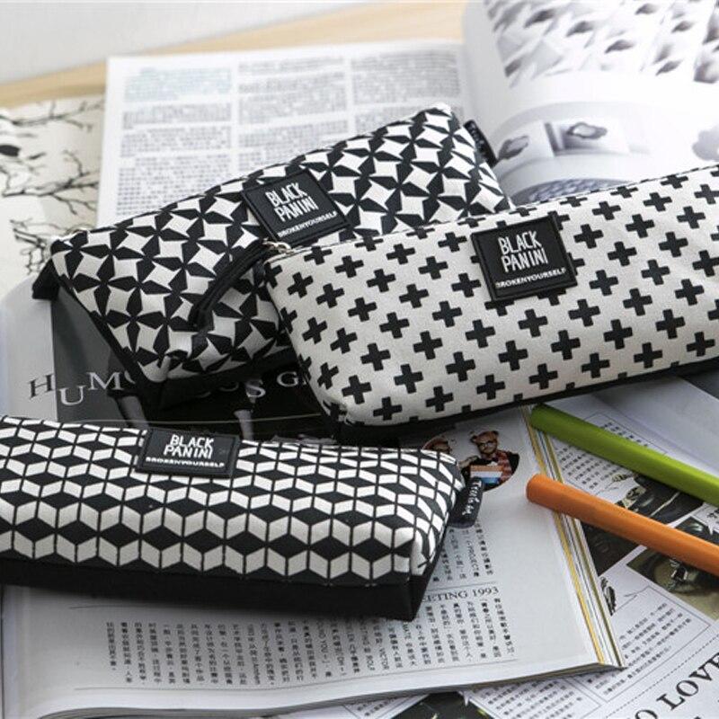 2016 pen box pouch bag bags school canvas cute cheap art supplies stationery pencil case vintage stationery large South Korea