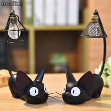 NOOLIM Home Decoration Accessories Manualidades Miniature Decoration Small Cat Night Light Resin Crafts Cafe Bar Decoration(China)