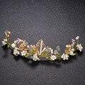 Profusão de cores pérola Faixa de Cabelo strass tiara nupcial tiara Headpiece casamento de noiva acessórios para o cabelo Do Vintage