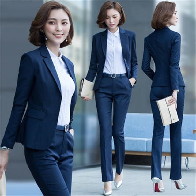 f5ea7c1c09f4 Nuevos trajes profesionales de trabajo de negocios con chaquetas de 2  piezas + Pantalones/para