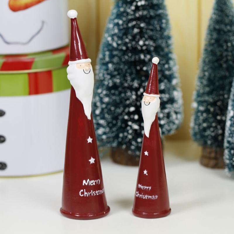 resina santa claus figuras estilo feliz navidad decoracin del partido del hogar