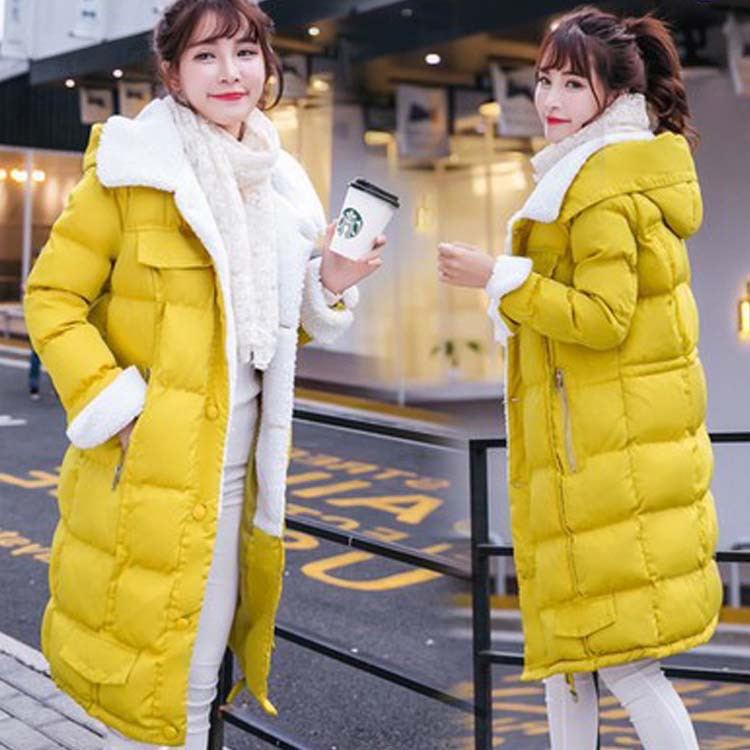 2016 winter preppy style woman coat fashion casual wadded student blousons long padded jacket ladies warm cotton clothes XXL 059 2016 autumn winter fashion big lapel casual woman long style coat