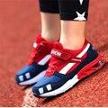 Marca running shoes crianças meninos meninas sports shoes moda respirável crianças tenis de basquete ao ar livre tamanho 28-37