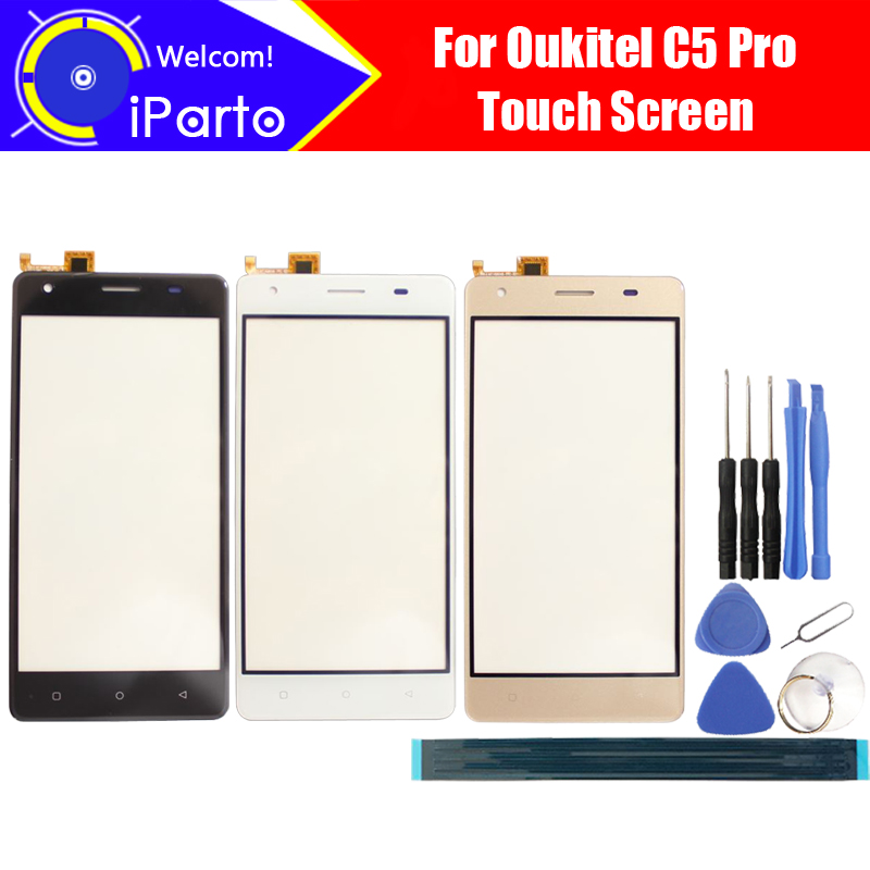 5.0 inch Oukitel C5 Pro Digitizer Touch Screen 100% Guarantee Original Glass Panel Touch Screen For C5 Pro + tools+Adhesive5.0 inch Oukitel C5 Pro Digitizer Touch Screen 100% Guarantee Original Glass Panel Touch Screen For C5 Pro + tools+Adhesive