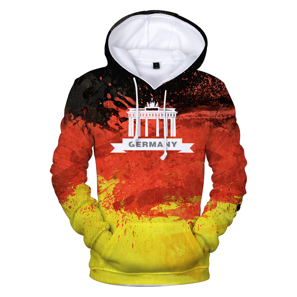 Aikooki 3D Hoodies National 3d-Print Fashion High-Quality Casual Flag Germany Men/women