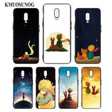 Silicone Case For OnePlus 5T 6 6T Printing Pattern Black Soft Phone Cover The Little Prince With the fox Style