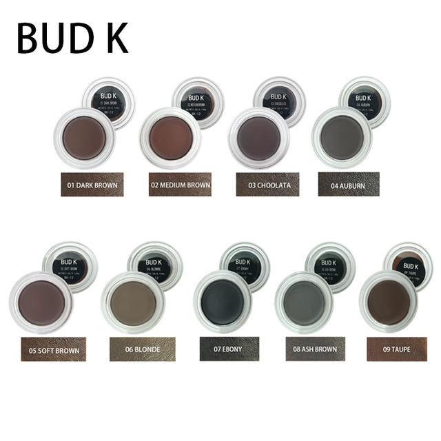9 Colors Eyebrow Enhancers Maquiagem Makeup Waterproof Eye Brow Filler Beverly Hills Pomade Eyebrow Gel CARAMEL BUD K Brand 5