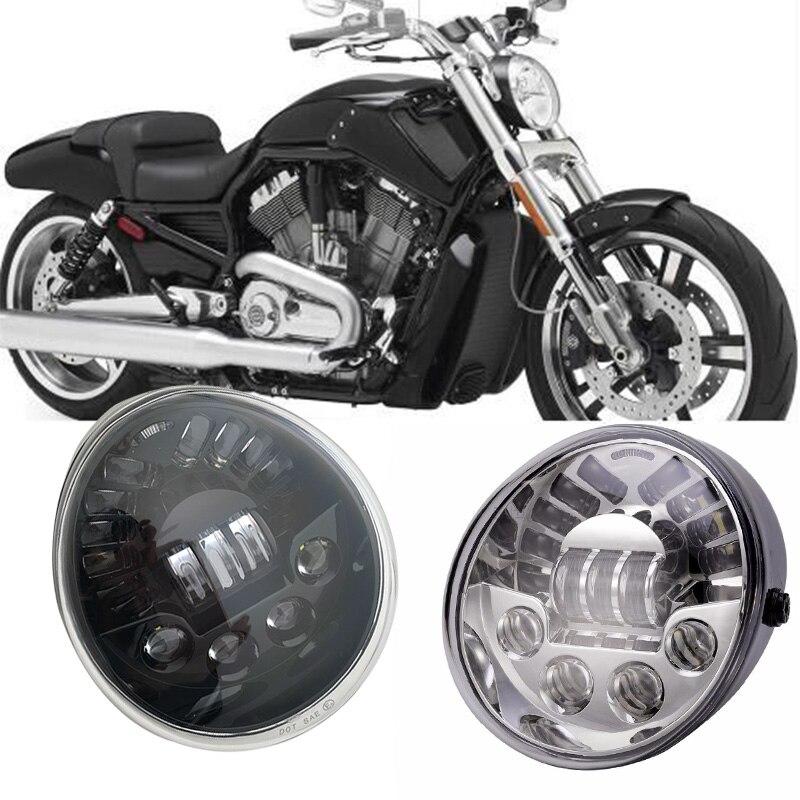 Для мотоцикла Harley v-rod фары с дневным ходовым светом Vrod VRSC светодиодный V-ROD светодиодные фары Овальный для Harley V-rod фара