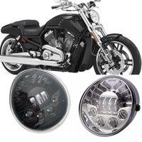 for Harley Motorcycle v rod Headlights With Daytime Running Light Vrod VRSC/V ROD LED Headlight Oval for Harley V rod headlight