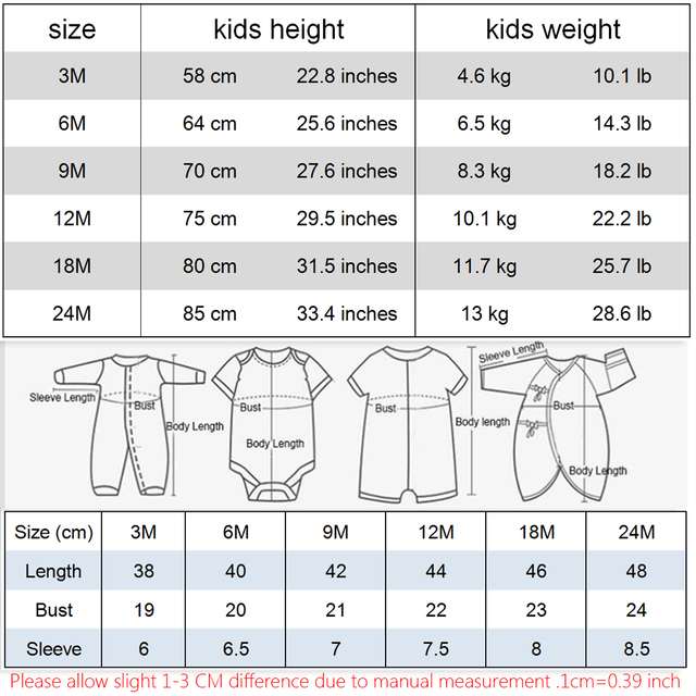 Newborn Baby Clothes Cotton Romper Playsuit Sunsuit Outfits Infant New Arrival Boys Girls Summer Rompers Costume 1