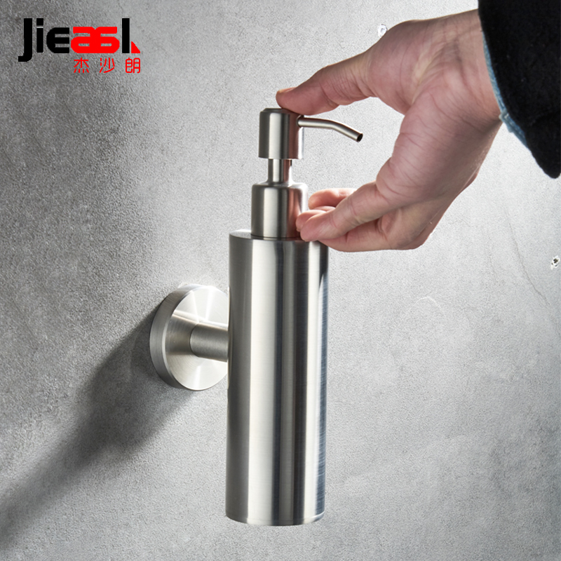 Brushed Finish Liquid Soap Dispensers Wall Mount Dispenser for Soap Modern Bathroom Shower Lotion Shampoo Liquid Soap Dispenser automatic infrared sensor free punching liquid soap container wall mount pump lotion drop soap dispenser for bathroom toilet