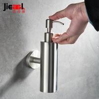 Brushed Finish Liquid Soap Dispensers Wall Mount Dispenser for Soap Modern Bathroom Shower Lotion Shampoo Liquid Soap Dispenser