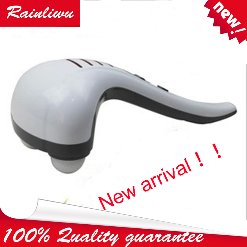 Dolphin Massage Stick vibrator Electric Cervical Vertebra Massage Device Double Head Neck Shoulder Massage Apparatus