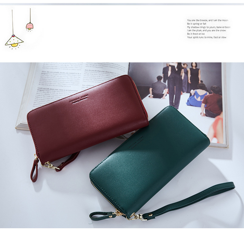 Women Long Clutch Wallet Large Capacity Wallets Female Purse Lady Purses Phone Pocket Card Holder Carteras 32