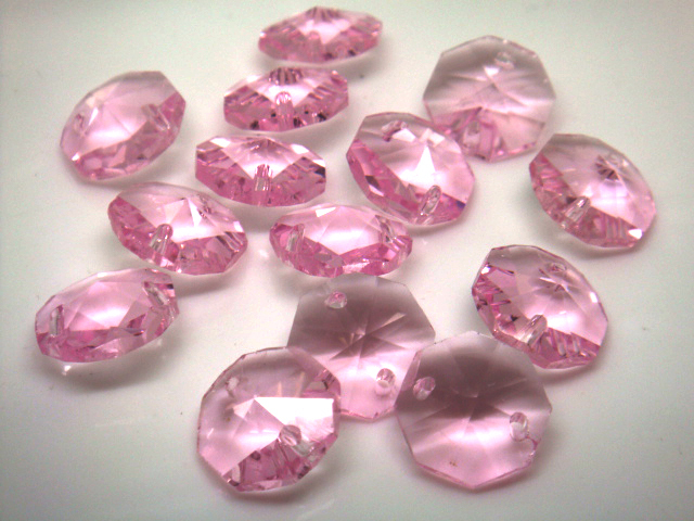1000pcs Lot Pink 14mm Crystal Chandelier Parts For Garland