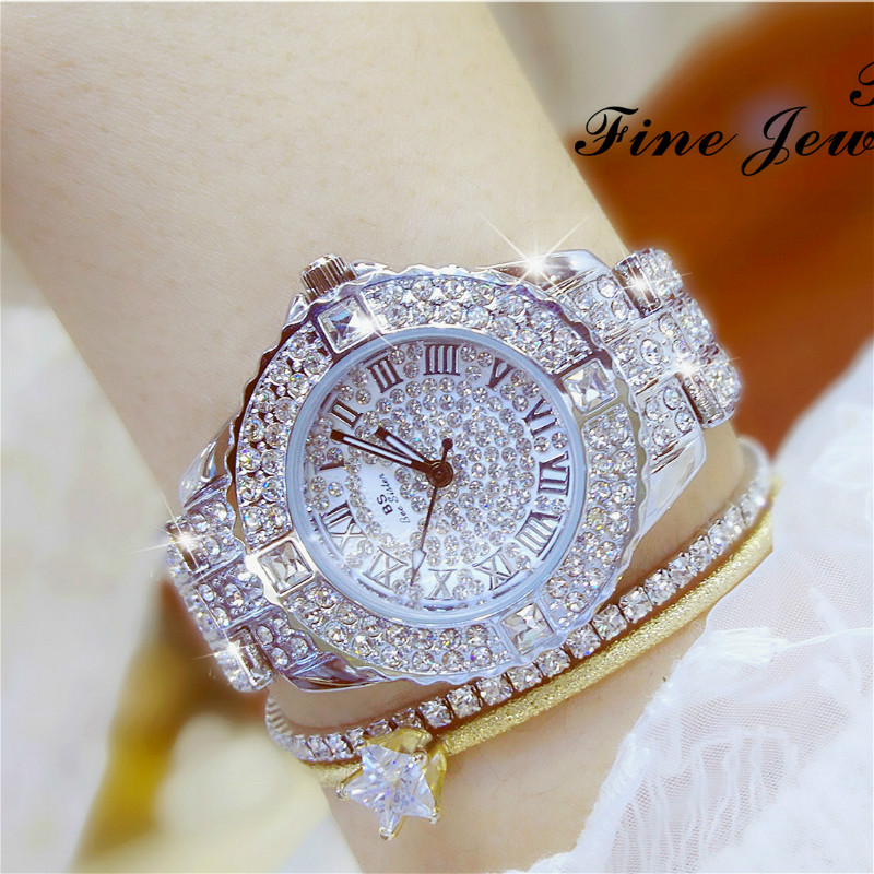 2017 BS Bee Sister Free Shipping Rhinestone Diamond Watches Fashion Luxury Quartz Gold Color for Evening Party Dress Wristwatch free shipping 10pcs cs4221 bs