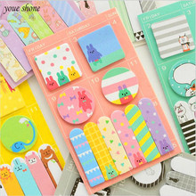 6  color Cute Kawai Memo Stickers Cartoon Kids Gift Office Stationery Sticky Notes Free Stickers