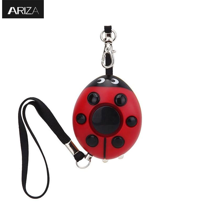 Ladybug LED light keychain alarm Amazon top selling 130db self defense Personal Alarm keychain for Women Kids Girls Elderly grouchy ladybug pb illustr