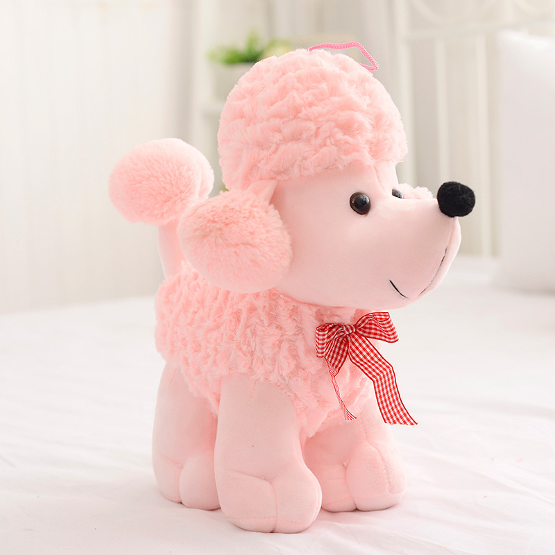 20cm Simulation Plush Dog Poodle Toy Lovely Children'presents Stuffed Animals Dolls Cute Gift Toy Sleeping Appease Doll fancytrader 120cm super lovely jumbo plush shar pei dog toy large dog doll sleeping pillow gift for child free shipping ft50048